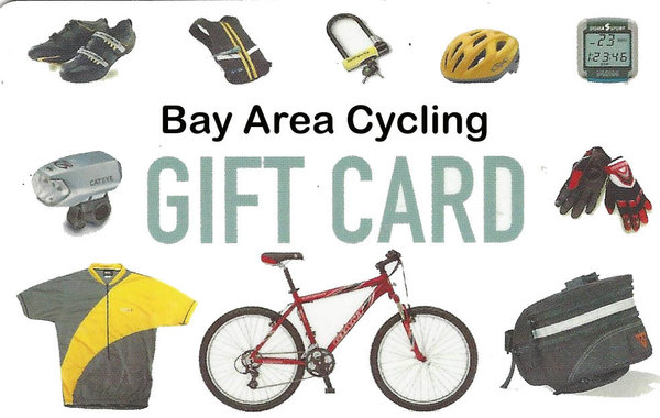 Bay Area Cycling Gift Card including Bonus Gift Card