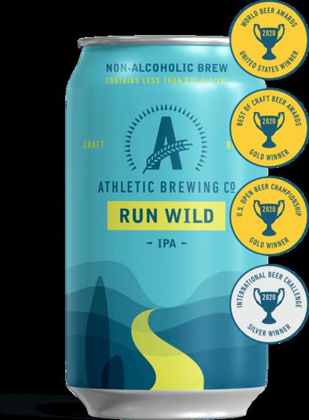 ATHLETIC BREWING CO. Run Wild IPA (NON-ALCOHOLIC)