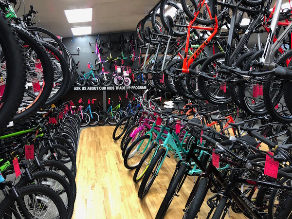 We offer a wide selection of bicycles
