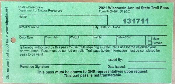 2021 State Trail Pass