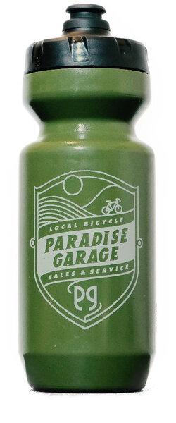 Paradise Garage Headbadge Water Bottle Purist 22oz Green