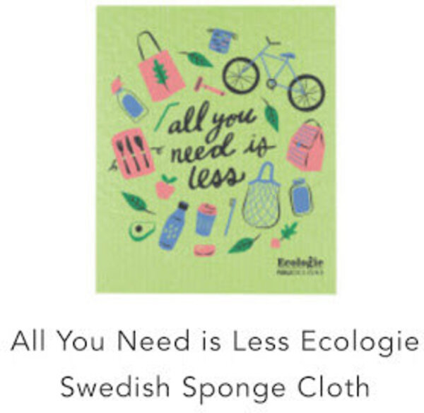 Danica All You Need Is Less Ecologie Swedish Sponge Cloth