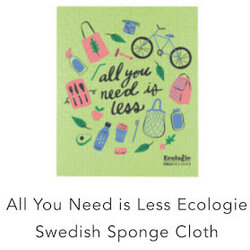 Danica All You Need Is Less Ecologie Swedish Sponge Cloth