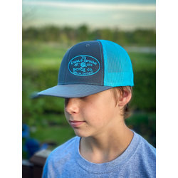 The Crank & Sprocket Bicycle Co. Blue / Grey Trucker Hat
