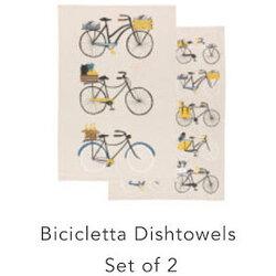 Danica Bicicletta Dishtowels - Set of 2