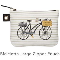 Danica Bicicletta Large Zip Pouch