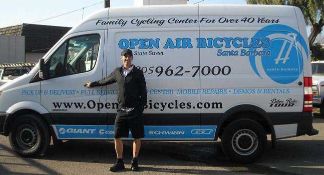 Open Air Bicycles shop van