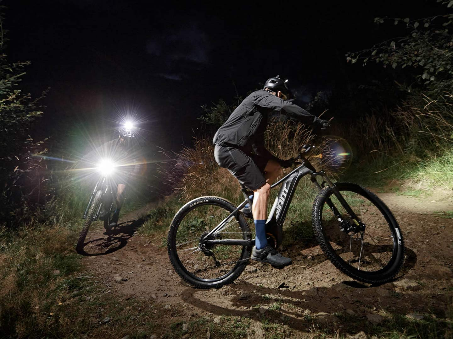 riding trails at night