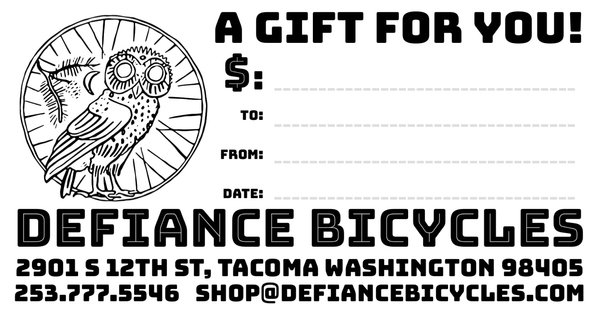 Defiance Bicycles Gift Card