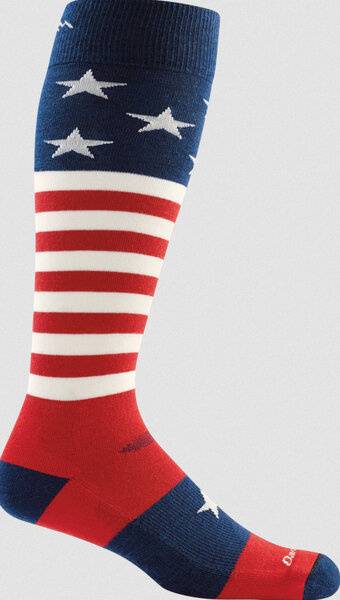 Darn Tough Captain Stripe Over The Calf Light Color: Stars and Stripes