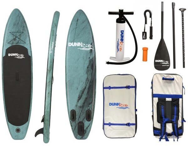Dunnrite SUP Green Marble Inflatable SUP
