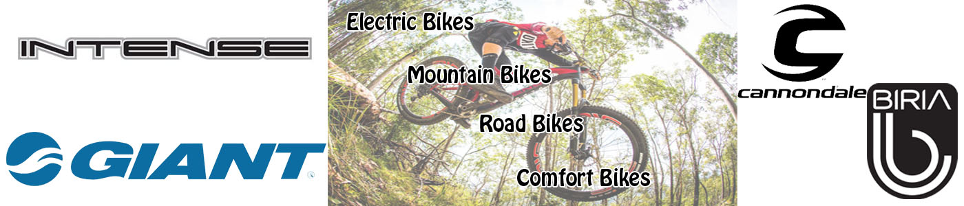 We Offer Mountain, Road, Electric, and Comfort Bikes from Giant, Cannondale, Intense and Biria