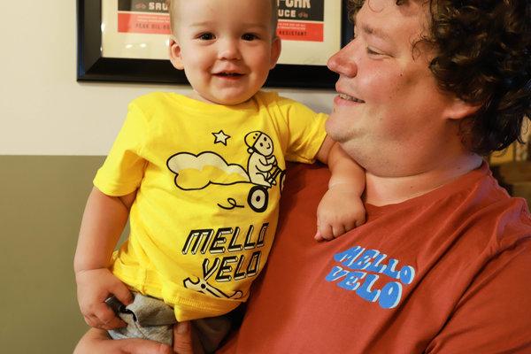Mello Velo Squirrel & Wrench Little Kid Shirt