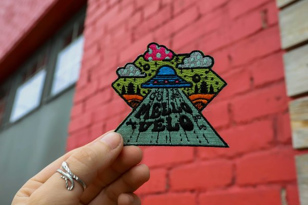 Mello Velo UFO Embroidered Patch