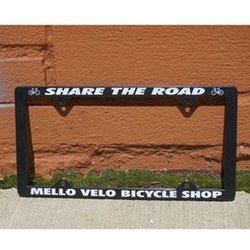 Mello Velo Share the Road License Plate Frame