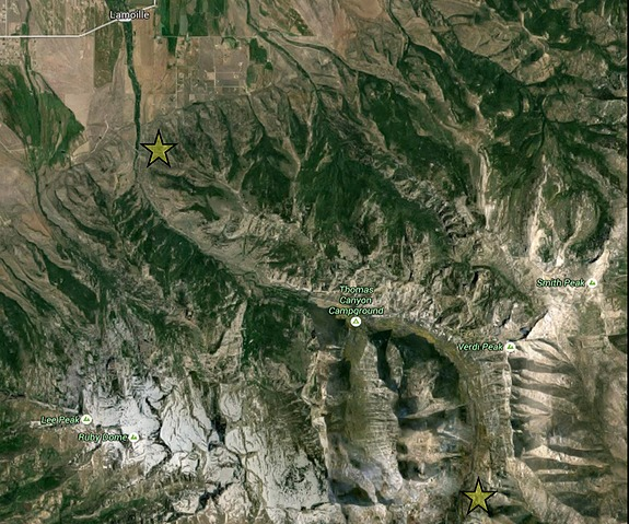 Map of Lamoille Canyon