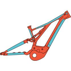 RideWrap Covered Protection – eMTB Frame Kit