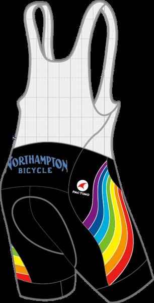 Northampton Bicycle RAINBOW SUMMIT RAPTOR BIB MEN'S