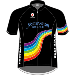 Northampton Bicycle RAINBOW CENTURY JERSEY UNISEX