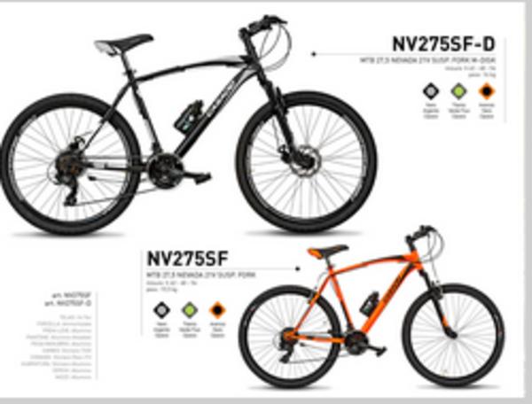 Casadei Bici MTB 27.5 Nevada 21V Susp fork M-Disk Nero Opaco