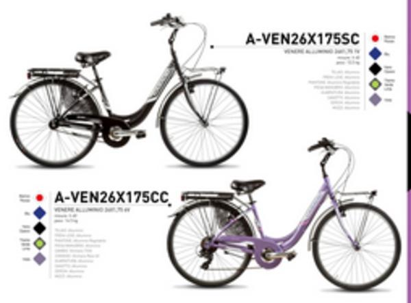"""Casadei Bici Venere Alluminio 26"""" Verde Lime"""