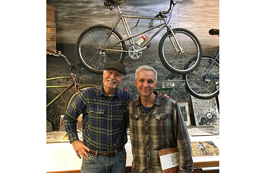 Joe Breeze with Brad at Marin Museum of Bicycling