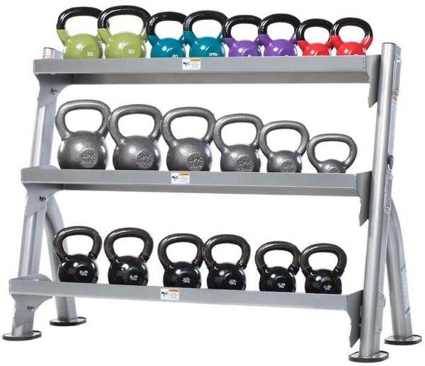 TuffStuff Fitness International Evolution 2-Tier Tray Dumbbell / Kettlebell Rack