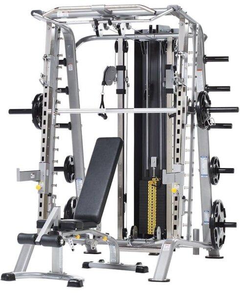 TuffStuff Fitness International Smith Machine-Half Cage Ensemble