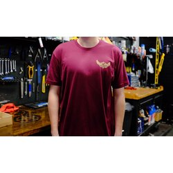 Pedal Pushers Cyclery Men's Winged T - Maroon