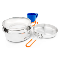 GSI OUTDOORS Glacier Stainless 1 Person Mess Kit