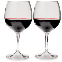GSI OUTDOORS Nesting Red Wine Glass Set