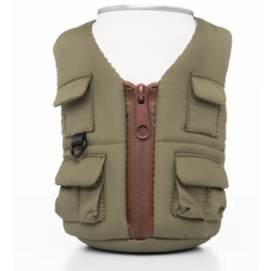Puffin Can Cooler Green Adventure Vest
