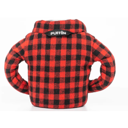 Puffin Can Cooler Buffalo Check Flannel