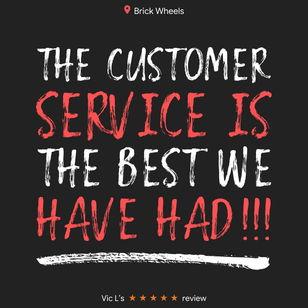 Google Review about Brick Wheels service