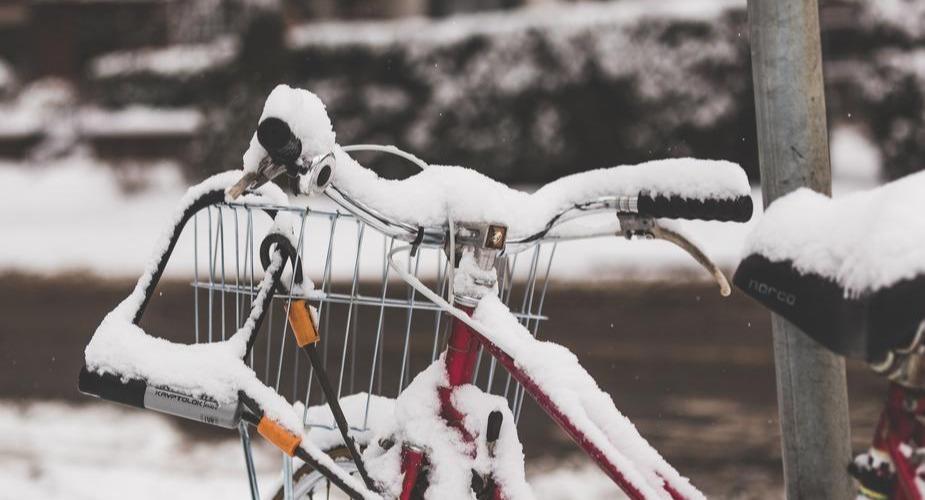kryptonite bike lock in snow