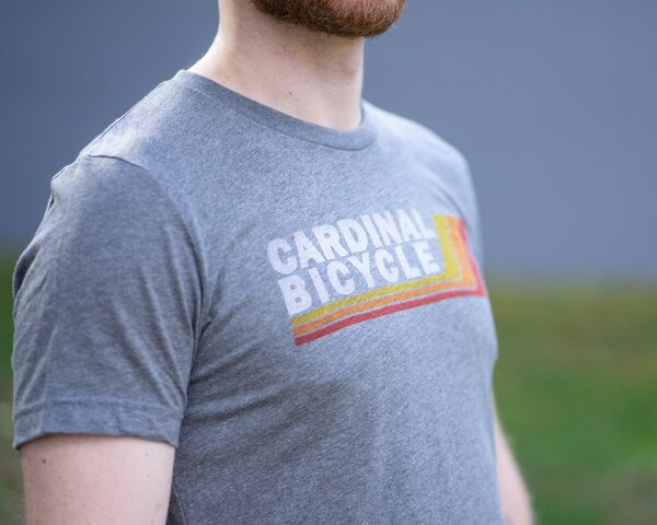 Cardinal Bicycle Retro Logo T-Shirt