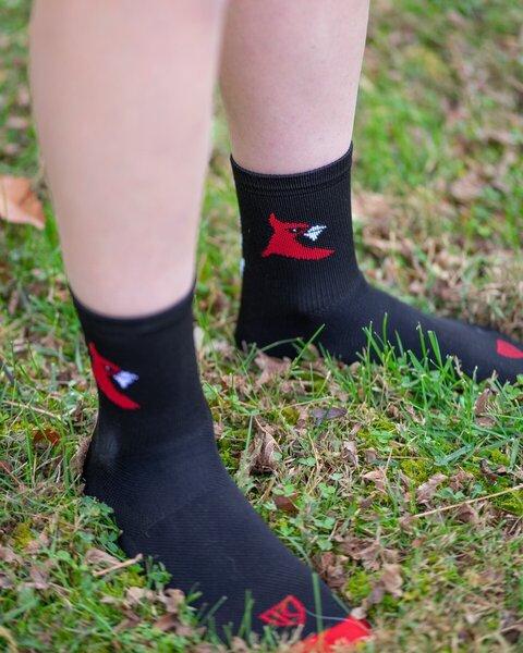 Cardinal Bicycle Crew Socks