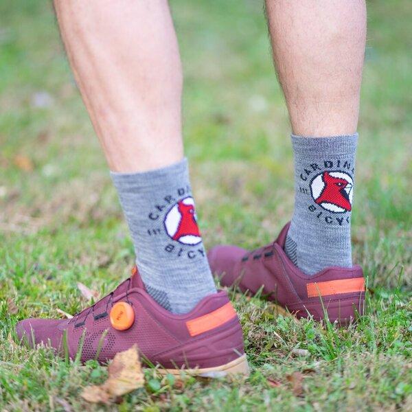 Cardinal Bicycle Wool Crew Socks