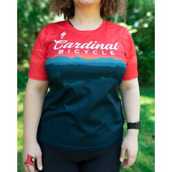 Cardinal Bicycle Women's Red Mountain - All Mountain Jersey