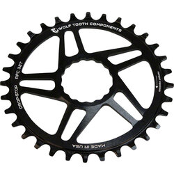 Wolf Tooth Components Direct Mount Chainring - 34t, RaceFace/Easton CINCH Direct Mount, Drop-Stop, For Boost Cranks, 3mm Offset, Black