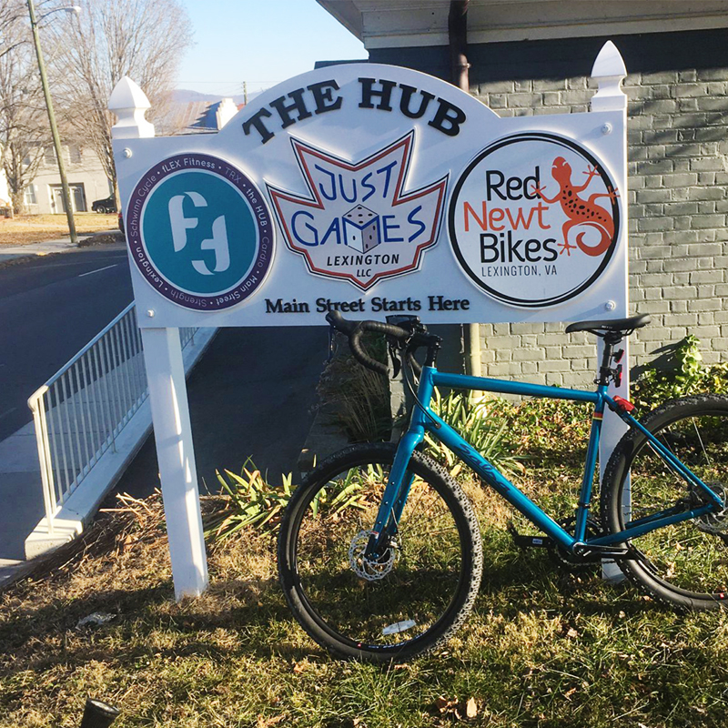 Red Newt Bikes is conveniently located in The Hub in historic downtown Lexington, VA