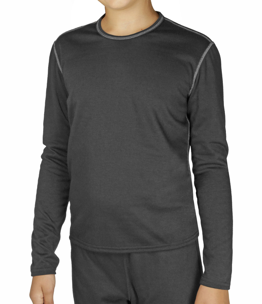 Hot Chillys Pepper Bi-Ply Performance Baselayer Crew Top - Youth