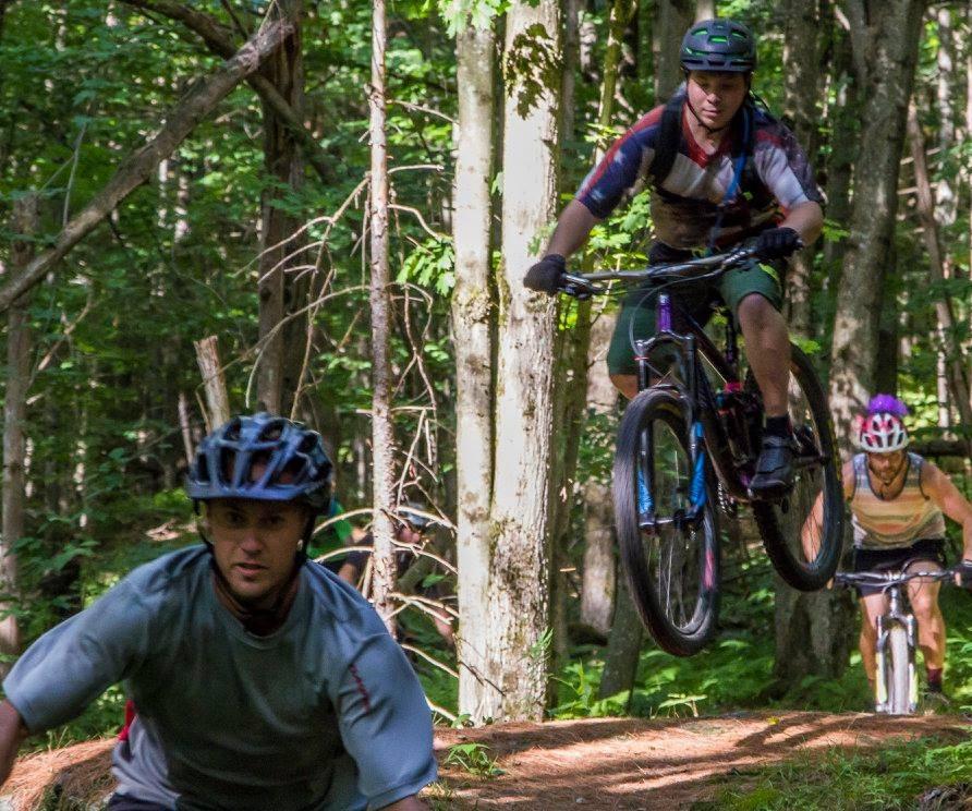 Photo of mountain bikers.