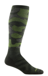 Darn Tough CAMO OTC MENS SKI SOCK MIDWEIGHT WITH CUSHION W/ GRADUATED LIGHT COMPRESSION
