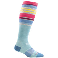 Darn Tough GLACIER STRIPE WOMENS SKI SOCK OTC LIGHTWEIGHT