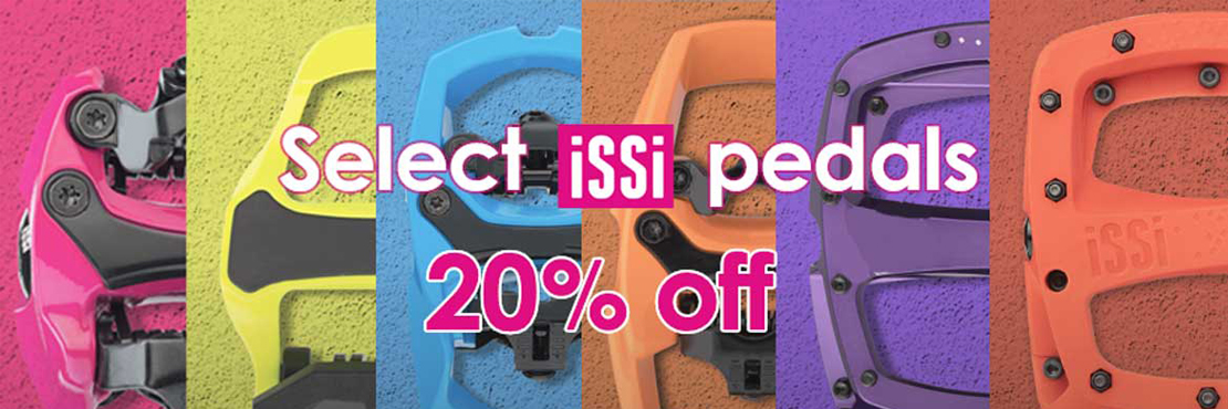 Select iSSi pedals 20% off