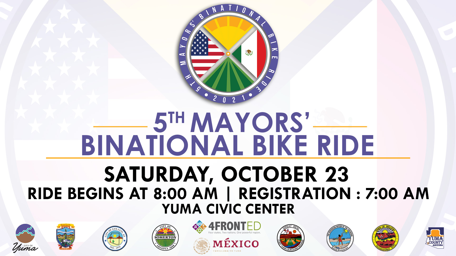 Mayors' binational bike ride
