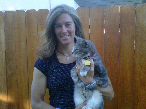 Rachel Sears Casanta holds her cat