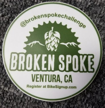 Broken Spoke Challenge Logo Decal