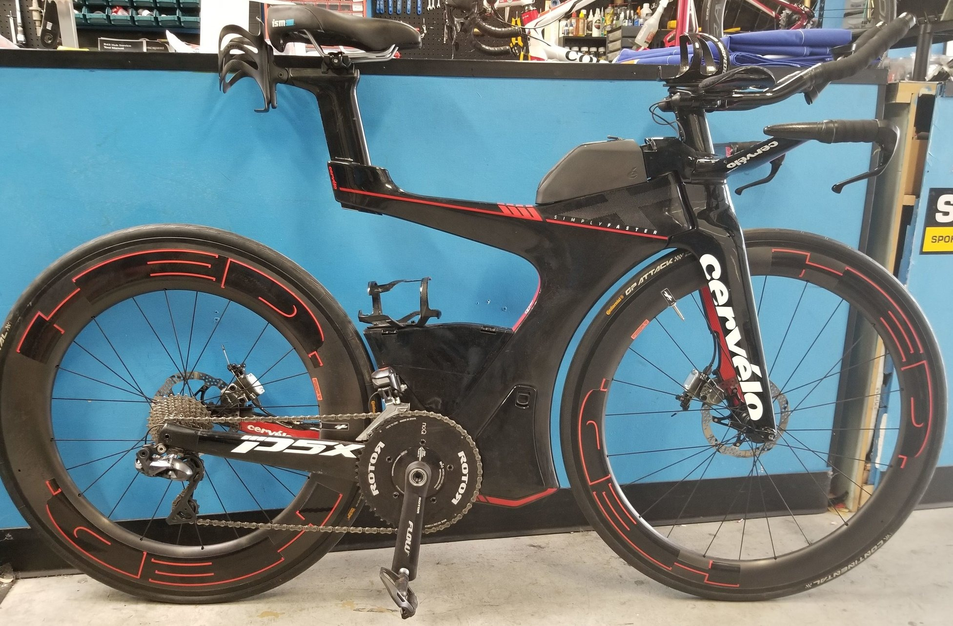 Cervelo P5X bicycle with HED wheels